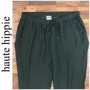 Haute Hippie Silk Jogger Pants
